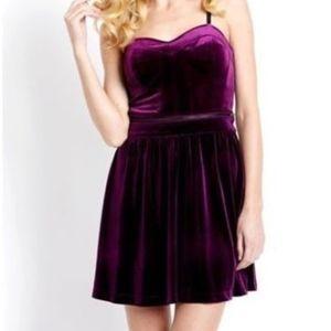 Jessica Simpson Purple Velvet Convertable Dress